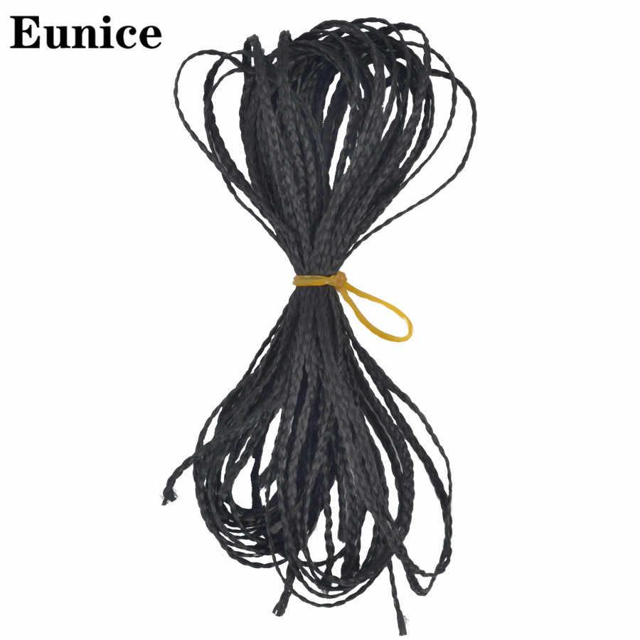 זיזי תיבת צמות סינטטי דק תיבת סרוגה צמות יוניס שיער צבעוני זיזי קולעת תוספות שיער שחור 613 חום שיער
