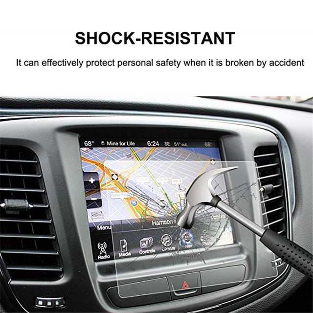 For Chrysler 200/300 / Pacifica 8.4 Inch Car Navigation Screen Protector Tempered Glass Touch Screen Protector 2