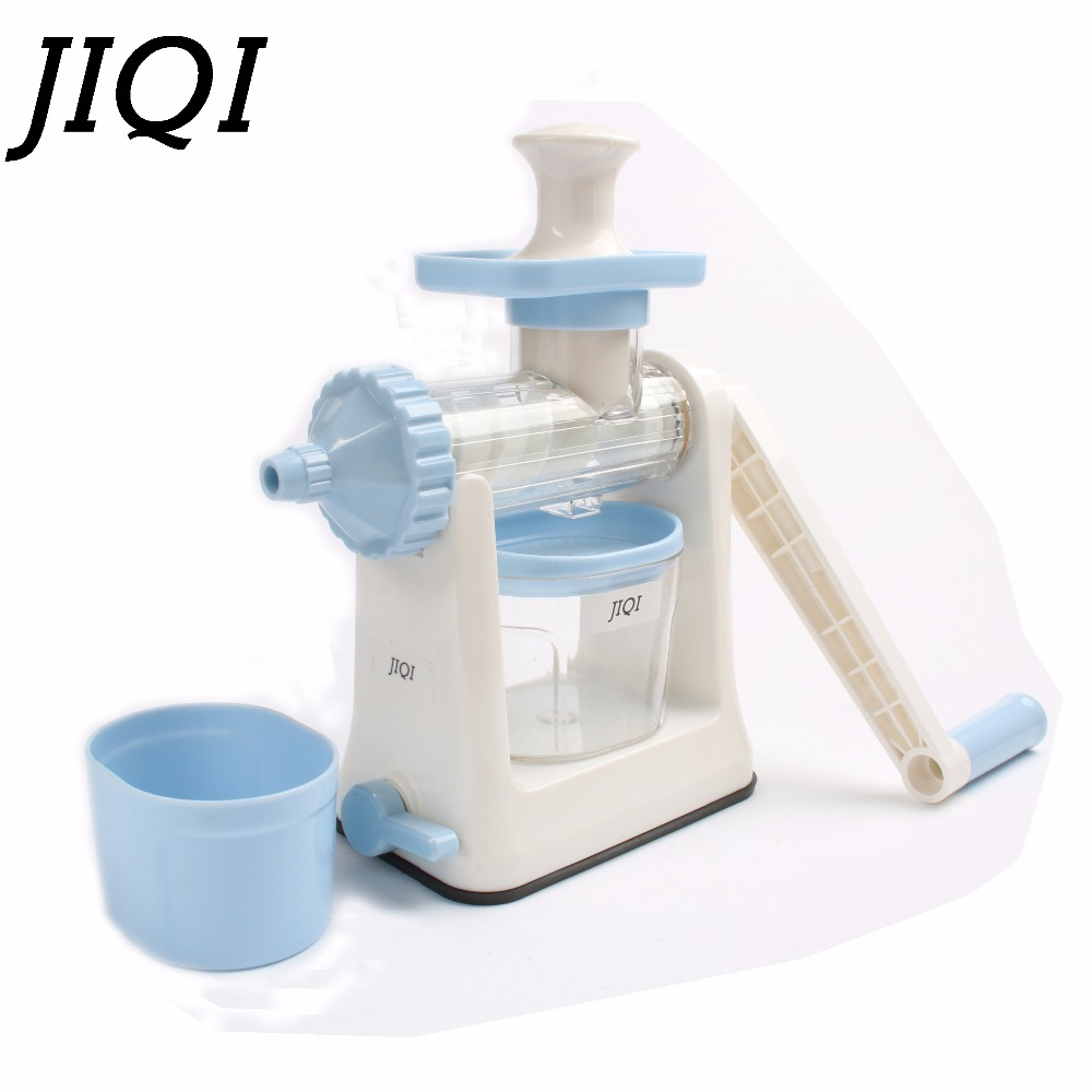 JIQI Hand press slow Juicer ice cream Squeezer manual Low Speed orange Juice Extractor DIY Fresh fruit Vegetable Machine Blender new hurom slow juicer hue21wn fruits vegetable low speed juice extractor make ice cream juicer