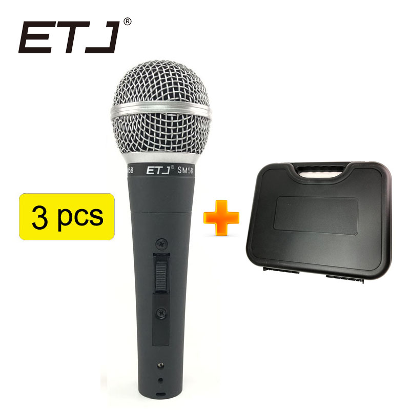Free Shipping! Professional Version SM 58 58S Vocal Karaoke Handheld Dynamic Wired Microphone professional wired