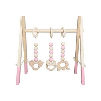 Nordic Stil Baby Gym Holz Spielen Kindergarten Sensorischen Ring-pull Spielzeug Holz Rahmen Säuglings Zimmer Kleinkind Kleidung Rack Geschenk Kinder Zimmer Dekor