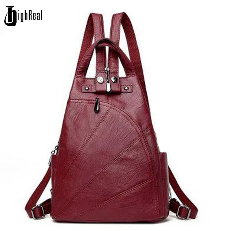 Designe Women's Backpacks Genuine Leather Female Backpack Women Schoolbag For Girls Large Capacity Shoulder Travel цена