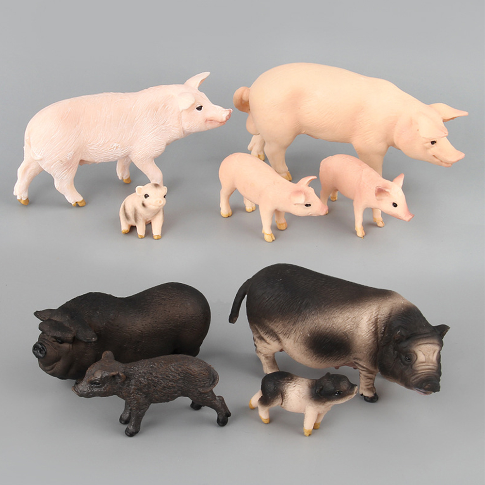 Simulation Animals Model Toys Sets Pig Plastic Action Figures Educational Toys for Children Kid Funny Toy Figure Gift Home Decor image