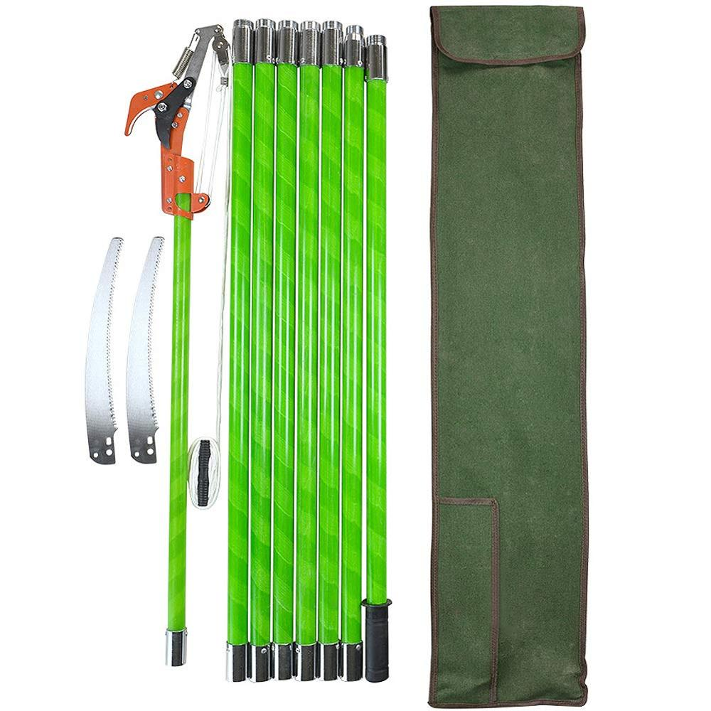 Hot 26 Foot Tree Trimmer Pole Manual Pruner Cutter Set Extension Cut Tree Branch Garden Tools Loppers Hand Pole Saws