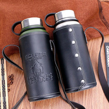 1.1L Big Capacity Vacuum Bottle Outdoor Sports Thermal Water Stainless Steel Insulated Thermos With Cover