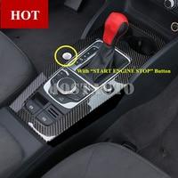 For Audi A3 S3 Carbon Fiber Console Gear Shift Box Frame Trim Cover 2014 2018 1pcs