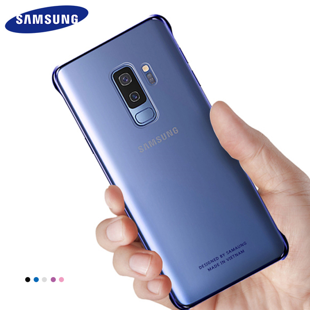 separation shoes cbfe5 30c5d US $4.49 10% OFF|Aliexpress.com : Buy Original Samsung Galaxy S9 S9 Plus  Case Cover Cute Luxury Leather 360 Thin Champion Case Hard PC Shockproof ...