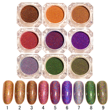 1 Box 1.5g BORN PRETTY Starry Holographic Laser Powder Manicure Nail Glitter Powder Dust Shinny Holo Nail Art Decoration Sets