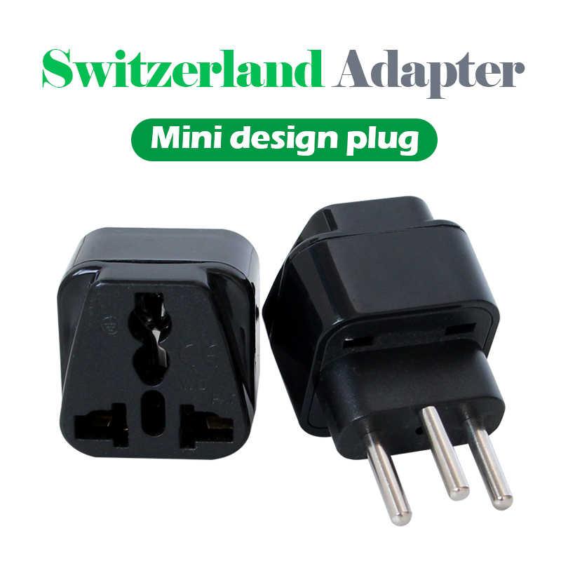 1 PC uniwersalny AC 250 V 10A/16A usa wielka brytania ue AU do szwajcarii szwajcarski zasilania AC wtyczka podróżna 3 okrągły Pin adapter bezprzewodowy wtyczka konwersji