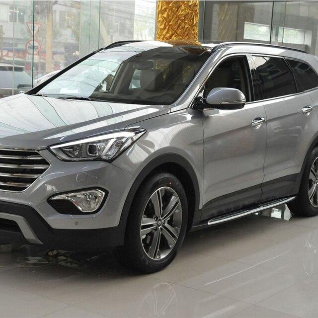 Alumínio Fit Para Hyundai Santa Fe Grande 2013 2014 2015 2016 2017 Estribo  Bar Passo Lado