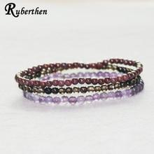 Ruberthen Natural Garnet Bracelets Amethys t Yoga Bracelet Mini Gem Stone Bracelet Drop Shipping kuprin alexander the garnet bracelet