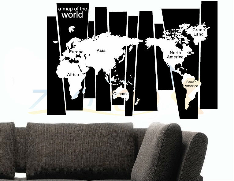 8120 Hot 105 75cm World Map Stickers Office Living Room Wall Decoration Adesivo Removable Vinyl Art Home Tattoo Parede In From