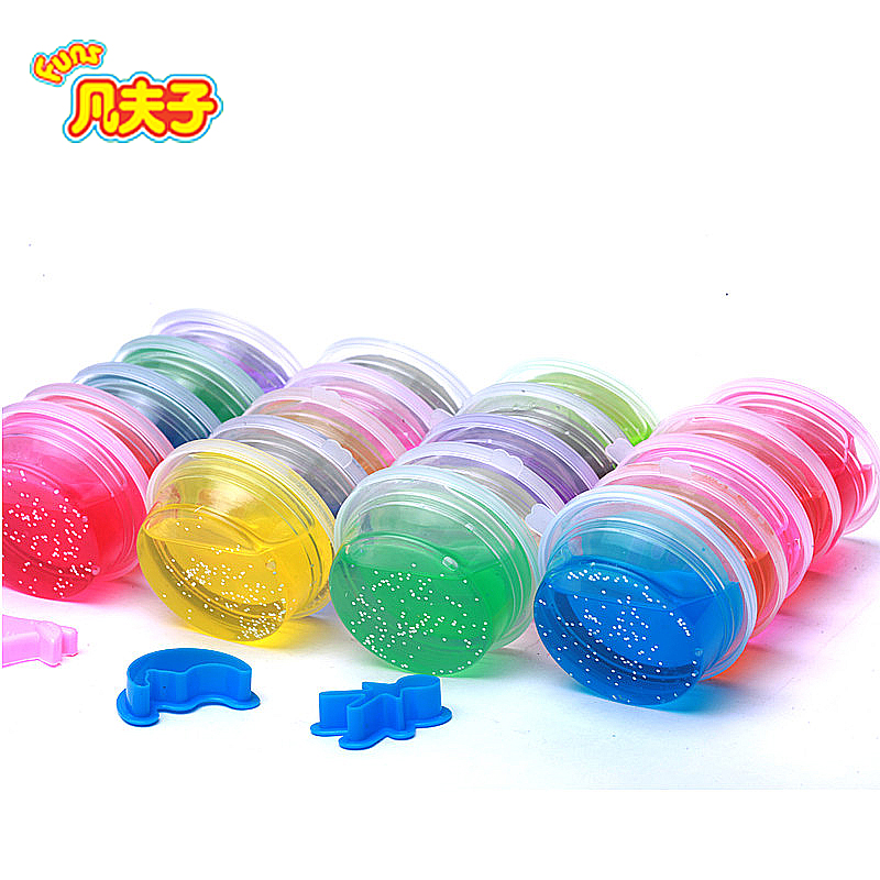 24 color /set crystal mud Crystal SLIME DIY Emoji Watch Mud Jelly Non-toxic/magnetic Silly Putty Polyer Spoof Baby Toys