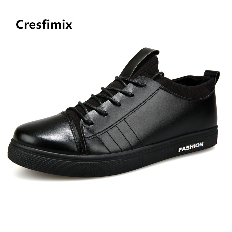 Cresfimix men casual all black pu leather lace up shoes male fashion plus size spring autumn shoes man's cool white shoes b2728 urbanfind men lace up casual shoes black white blue eu size 39 44 brand fashion men leather footwear for spring autumn