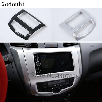 Car Middle Console Temperature Air-condition Volume Navigation GPS Button Switch Trim Frame For Nissan Terra 2018 2019 2020 image