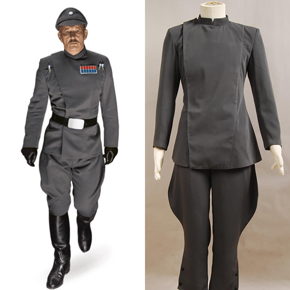 Star Wars Imperial Intelligence Senior Officer Gray Grey Cosplay Costume Uniform Carnival Halloween Costumes For Adult Men