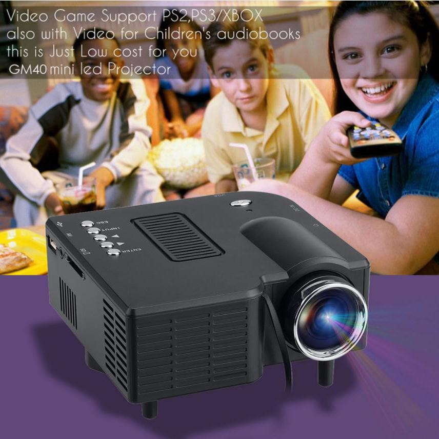 HD Portable Mini Multimedia LED Projector Home Cinema Theater Computer PC Laptop TV Displayer VGA USB SD HD 1080P Professional