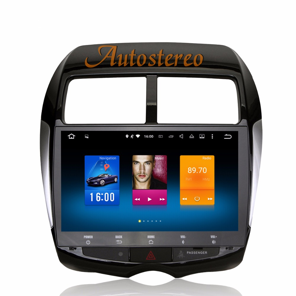 цена на The Newest Android8 Car Multimedia Car DVD player GPS navigation for MITSUBISHI ASX RVR Outlander Sport 2010-2014 tape recorder