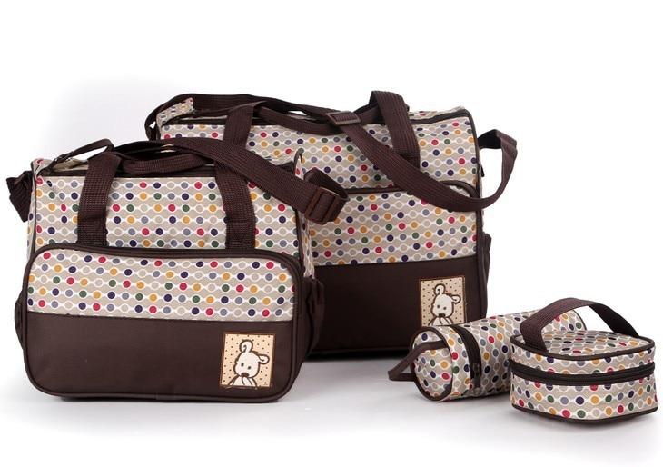 Zīdaiņu mazuļu autiņbiksīšu kostīms ir piemērots mātes bērnu pudeles turētājam Augstas kvalitātes rokassomu mātei ratiņiem maternitātes soma māmiņa autiņbiksīšu somas