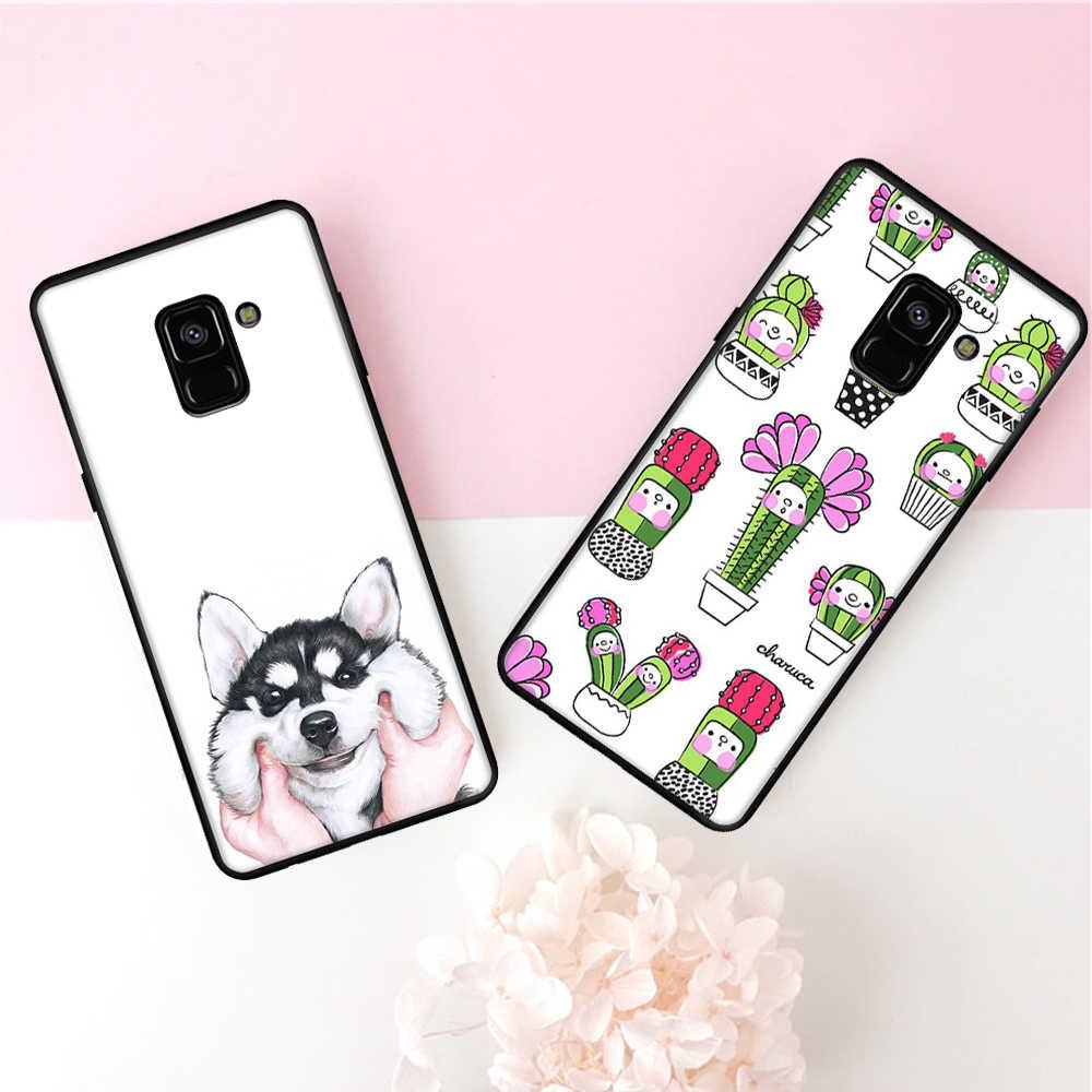 กรณีรูปแบบสำหรับ Samsung Galaxy S9 S8 A9 A6 A8 PLUS 2018 A7 A5 A3 2017 J5 J7 J3 2016 j2 Pro S7 S6 ขอบหมายเหตุ 8 9 ซิลิคอน