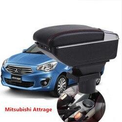 Dla Mitsubishi Attrage podłokietnik ze schowkiem centralny pojemnik do przechowywania sklepu w Podłokietniki od Samochody i motocykle na