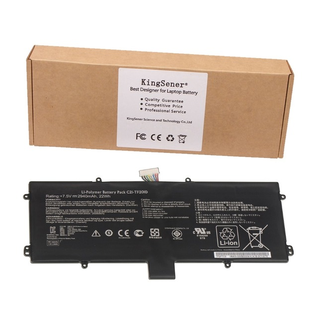 7.5V 2940mAh Genuine New Laptop Battery C21-TF201D For ASUS Eee Pad Transformer Prime TF201 TF201G Series Tablet PC C21-TF201D