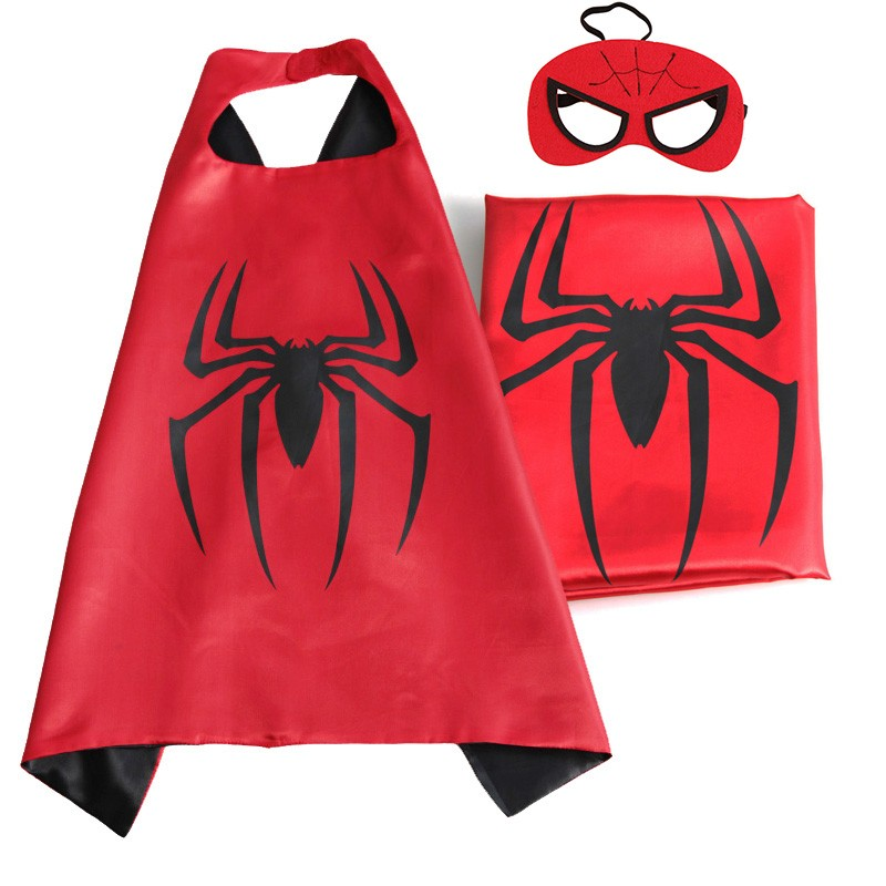 Satin superhero cape and mask costumes for kids set 4pcs cape masks stickers and tattoo in boys costumes from novelty special use on aliexpress com