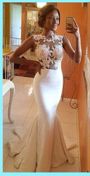 Gorgeous mermaid prom dresses 2017 hot sale sexy white lace appliques ruffles floor length evening gown.jpg 250x250