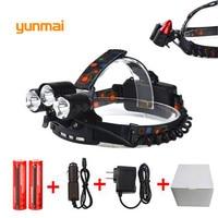 9000Lm CREE XML T6 2Q5 LED Headlight Headlamp Head Lamp Light 4 Mode Torch 2x18650 Battery