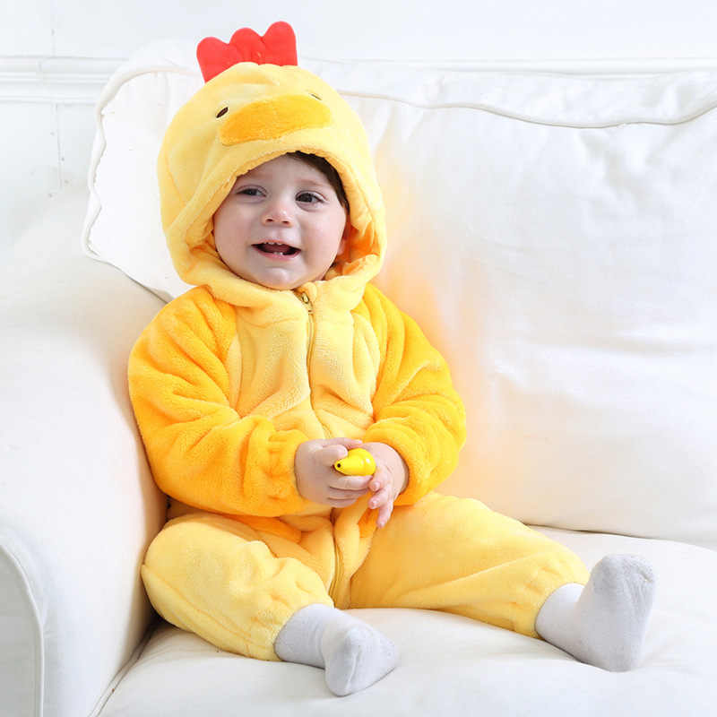 662fa0963c1 ... 2017 Onesie Cute Chicken Animal Baby Girl Boy Clothes Christmas  Clothing Kids Romper Cosplay Pajamas Children ...