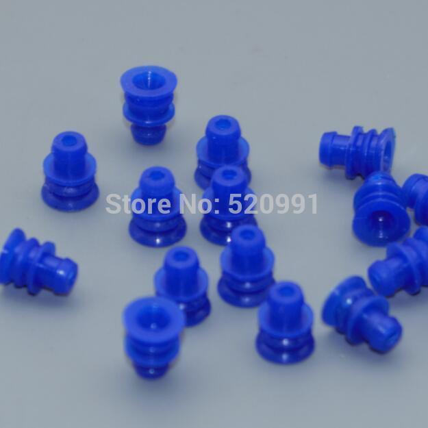 Shhworld Sea 20 шт 1,5 мм 3,5 мм водонепроницаемые уплотнения автомобильные Соединители обжимные клеммы 964286-1 964274-2 964296-1 963900-1 964265-2 - Название цвета: blue seals 20pcs
