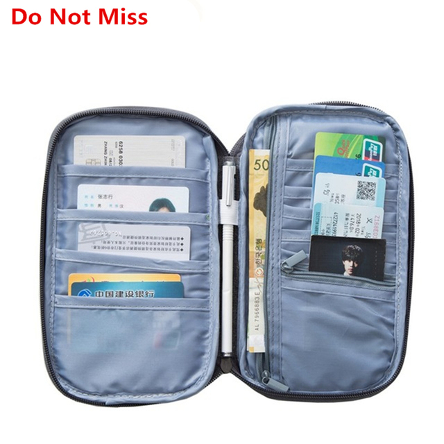 fae843b33b10 US $5.54 25% OFF|Travel Wallet Women Big Capacity Passport Cover Documents  ID Card Holder Wrist Strap Passport Organiser Case Travel Accessories-in ...
