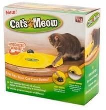 Товары для кошек Мяу, как видно на ТВ Желтый Тайные Ткань перемещение Мышь Cat играть Товары для кошек Игрушка