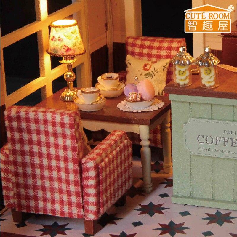 Meubles Poupée DIY Maison Wodden Miniatura Maisons De Poupées Kit - Poupées et accessoires - Photo 5