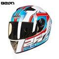 Nueva llegada b500a ece casco moto racing casco integral moto motocicleta casco casque capacete cascos kask cromo visera