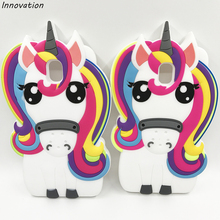 Innovation 3D Unicorn Horse Case For Samsung Galaxy S8 Plus S6 S7 Edge Soft Silicone Cover J2 J5 J7 Prime J3 2016 A3 A5 A7 2017 аксессуар чехол книга innovation для samsung galaxy j2 2018 book silicone silver 11475