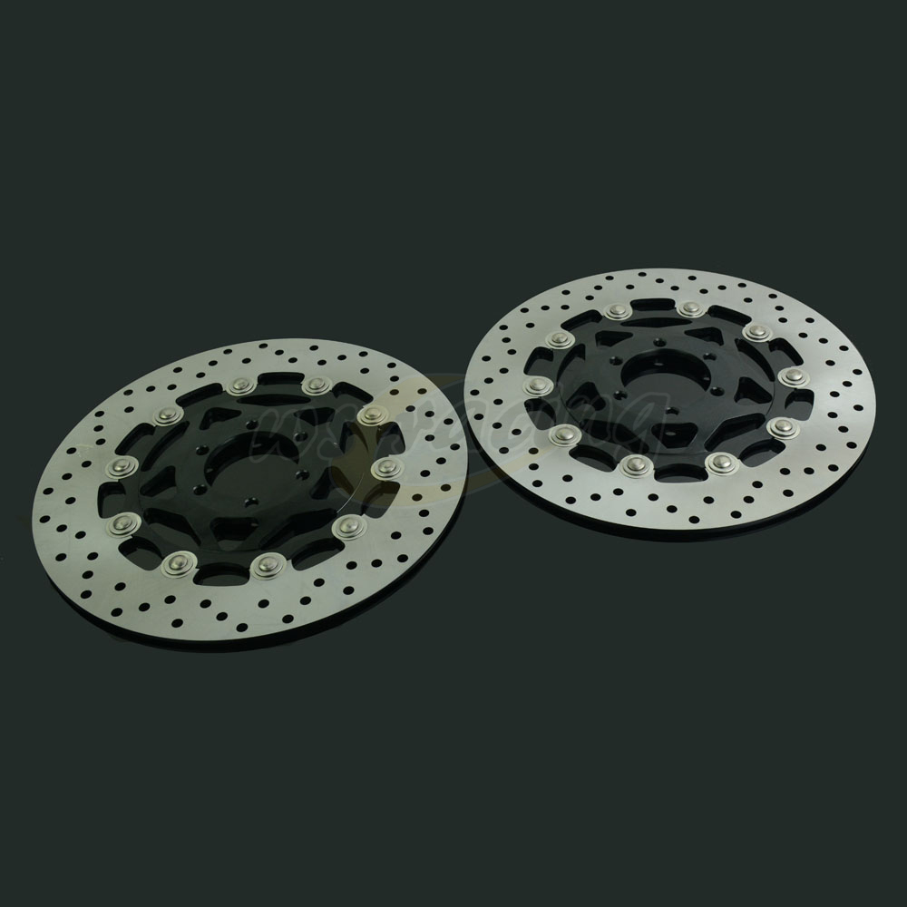 298MM Motorcycle Front Wavy Floating Brake Disc Rotor For YAMAHA XJR400 93-99 FZR600 FZS600 FAZER FZ750 TDM850 TRX850 FJ1200 sintered copper motorcycle parts fa252 front brake pads for yamaha fzs 600 fazer 98 03