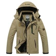 Veste dhiver à capuche pour hommes, coupe vent épais imperméable, manteau en molleton thermique, militaire, grande taille 5XL 6XL