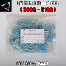 2W Watt 1 200pcs lot Metal Film Resistor 360 390 430 470 510 Ohm