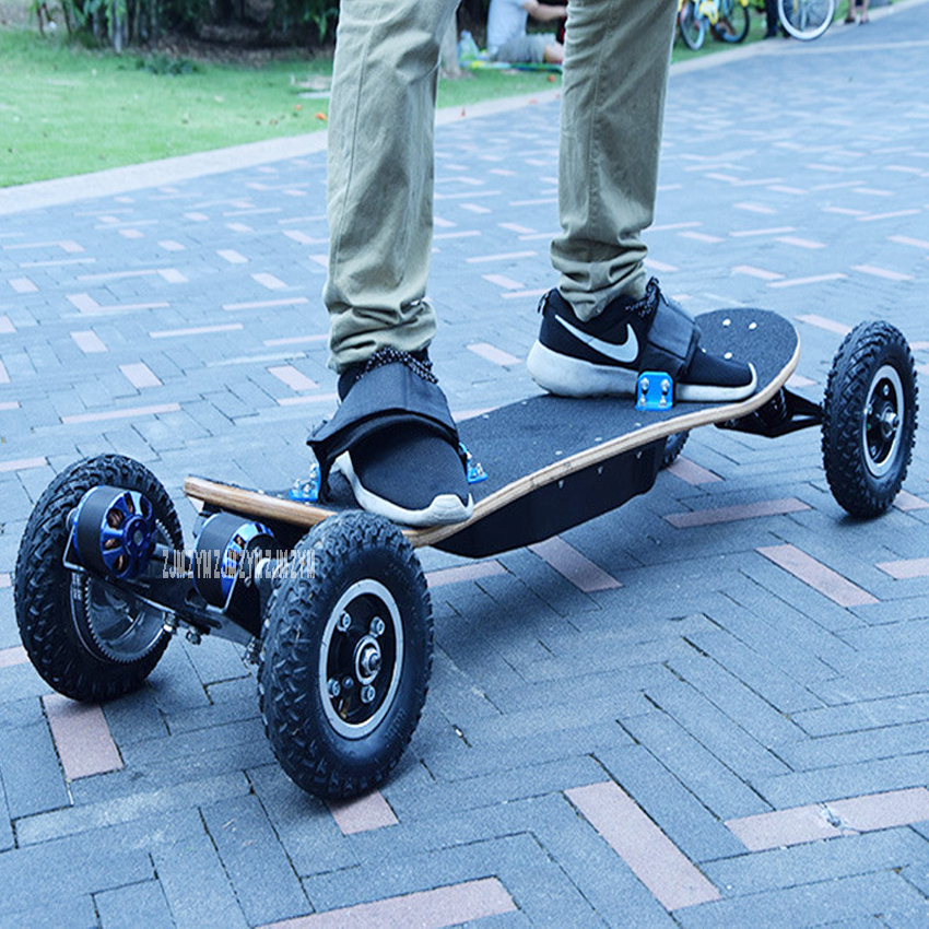 Four Wheel Electric Skateboard Double Motor 1200W Power Electric Longboard Scooter Boosted board E-scooter Hoverboard Wood Board daibot two 300w motor four wheels lg battery electric skateboard scooter hoverboard wireless remote longboard hoverboard no tax