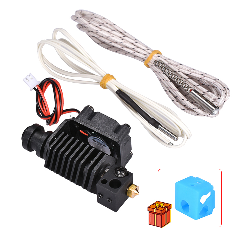 upgrade V6  j-head Hotend Wade Extruder 12 24V Heater 1M 2M HT-NTC100K Thermistor 3D Printer Parts for 1 75mm Filament nozzle