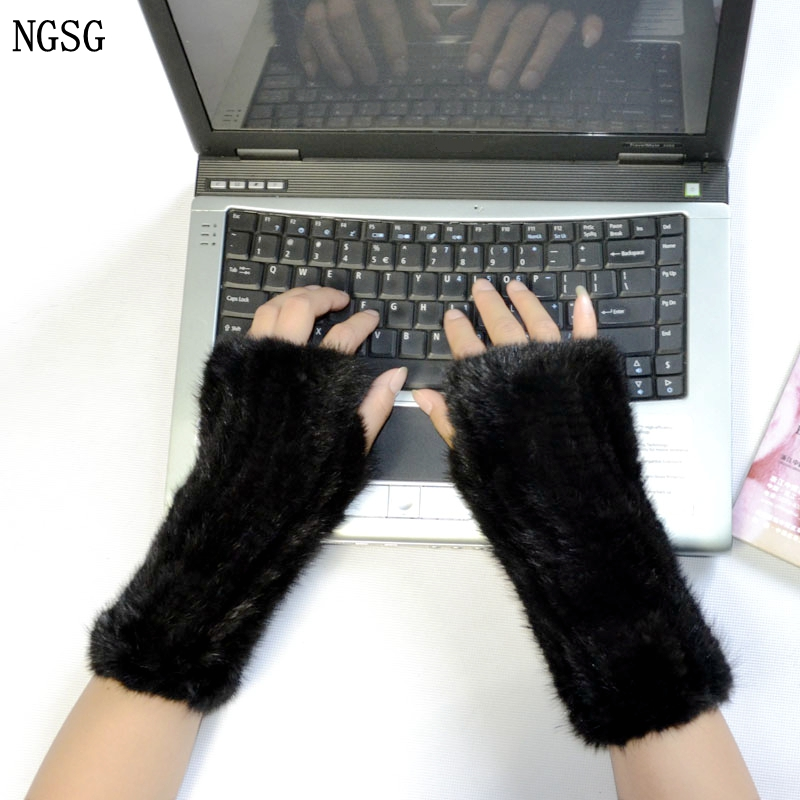 NGSG női eredeti kesztyű fél kesztyű orosz téli szőrme kesztyű - Ruházati kiegészítők