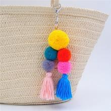 Woolen Big Ball Pom Pom Tassel Keychain