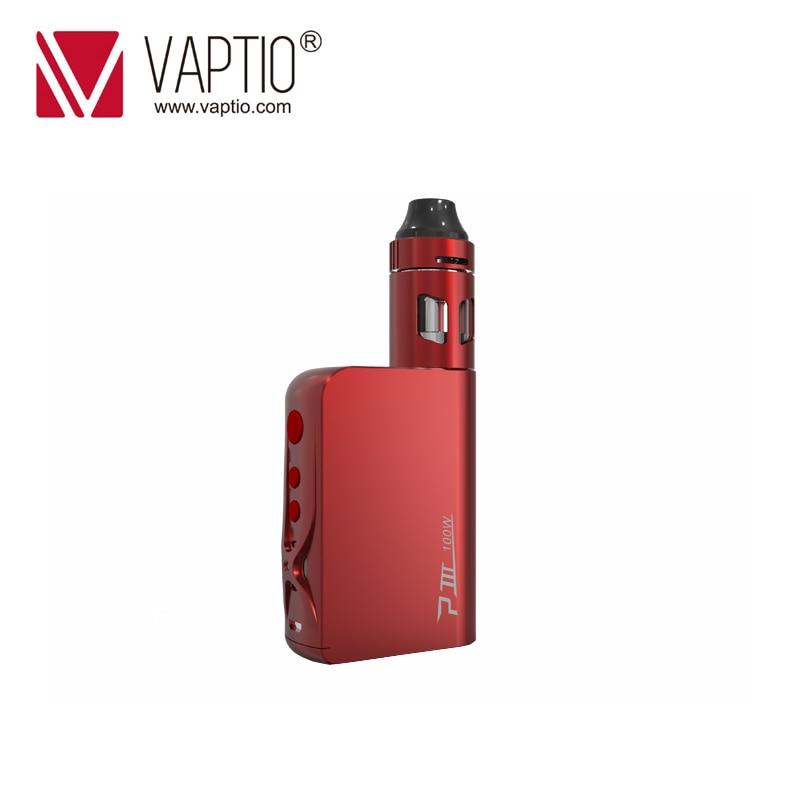 Original Vaptio 100W P3 Vape kit with 3000mah box mod Built in VW/TC MOD Battery Vaporizer kit 2.0ml Top Filling Atomizer