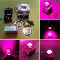 Vender 100W DIY led grow light 380 840nm kit chip controlador ventilador disipador lente de 60 grados