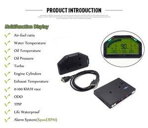 Image 4 - 9 in 1 Rally Car Race Dash Dashboard LCD Digital Display Gauge Waterproof Car Meter Full Sensor Kit Tachometer DO908