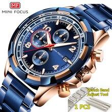 Relojes de hombre 2019 de lujo de marca MINI foco impermeable de acero inoxidable superior reloj de Moda hombre cronógrafo cuarzo hombre reloj hombres 2019