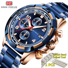 Watches Men 2019 Luxury Brand MINI FOCUS Waterproof Stainless Steel Top Fashion Watch Man Chronograph Quartz Male Clock Men 2019