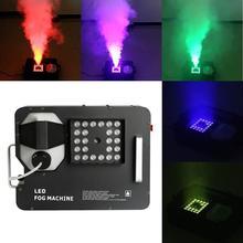 цена на Up spray 1500W RGB 3 in1 24 LED DMX Smoke Fog Machine Stage Lighting W/ Remote