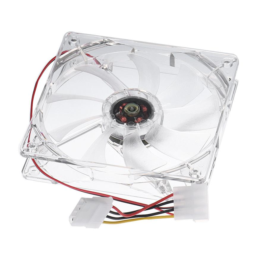 High Performance 12CM 4PIN CPU Cooling Fan Computer PC Clear Case Quad Heatsink White Jan04 metal computer case fan grill 12cm
